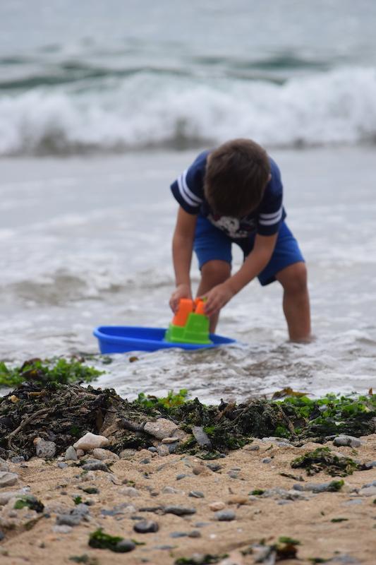 Playing on the beach. Beach Toys