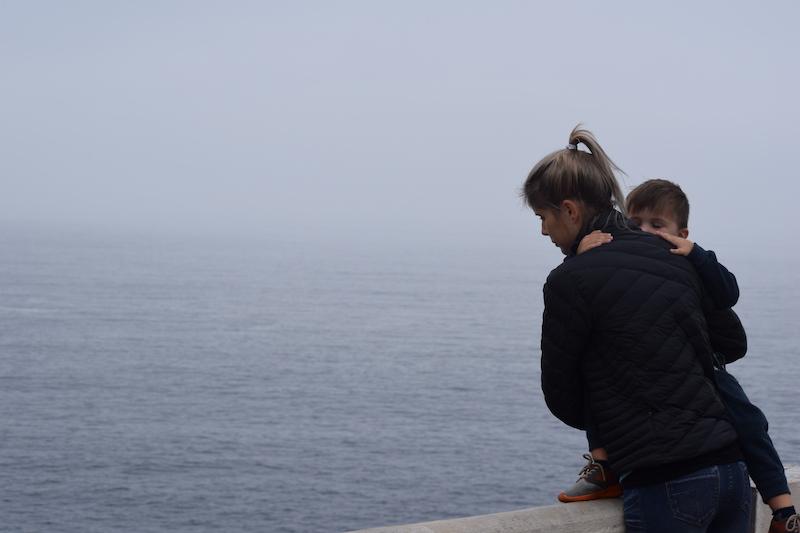 Misty cliffs of Valparaiso