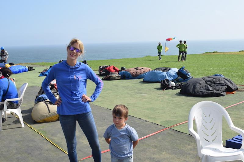 paragliding in mireflores, lima, peru