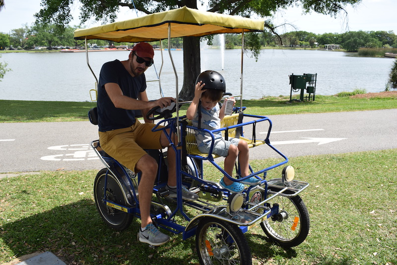 Riding Bikes in city park, new orleans