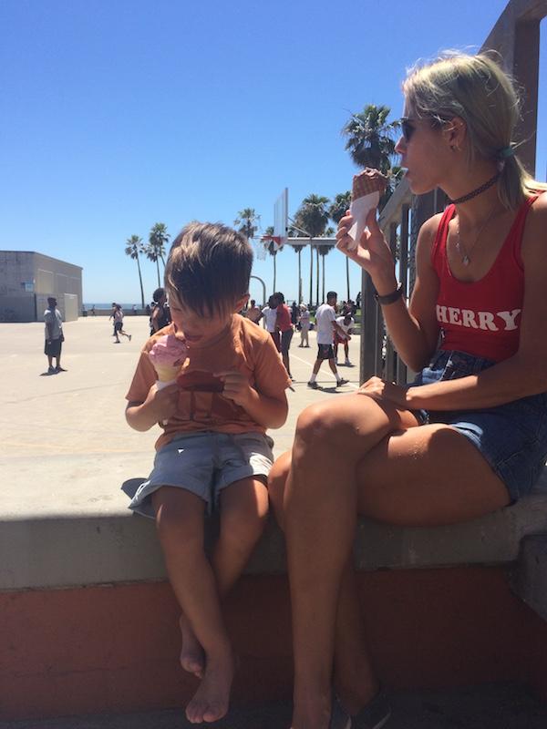 Venice Beach California ice creams