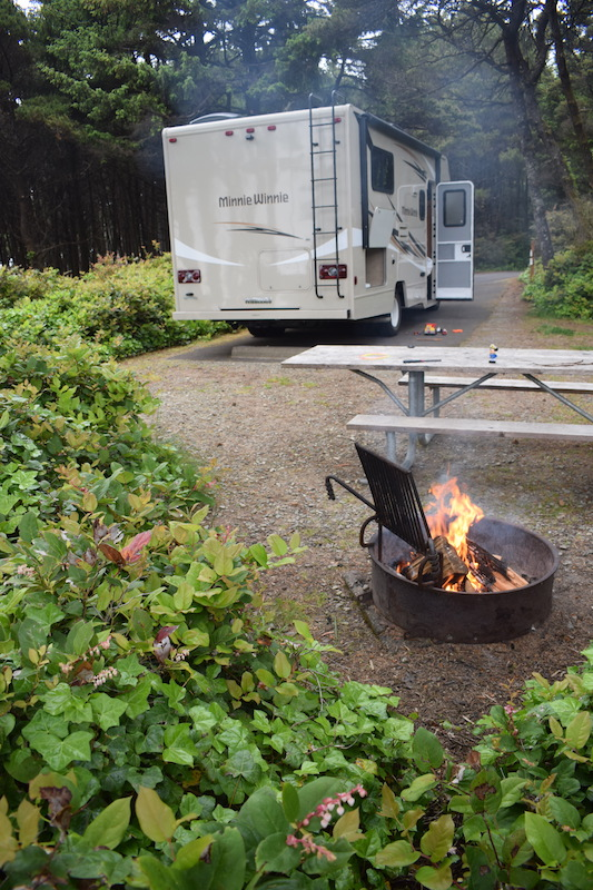 Campsites on our RV trip