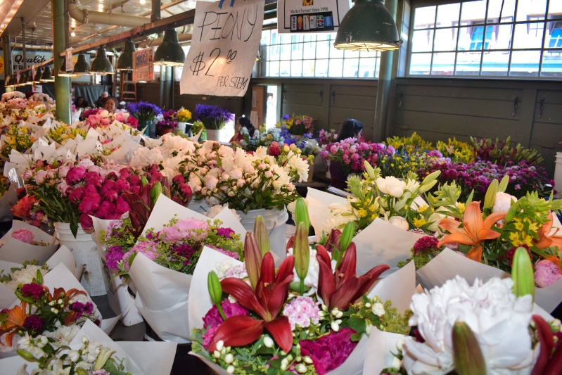 Fresh cut flowers at Pikes Place Market