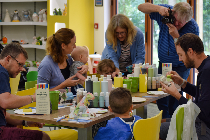 Pottery painting at Centre parcs