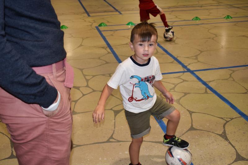 Football training at centre parcs