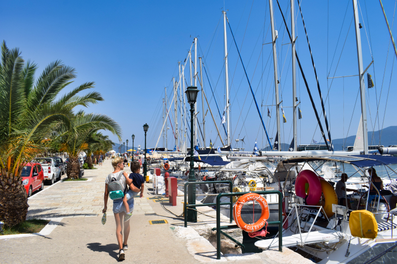 The harbour in Agia Efimia