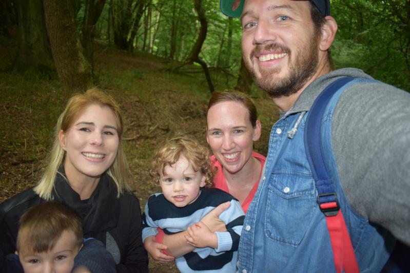 Family fun selfie