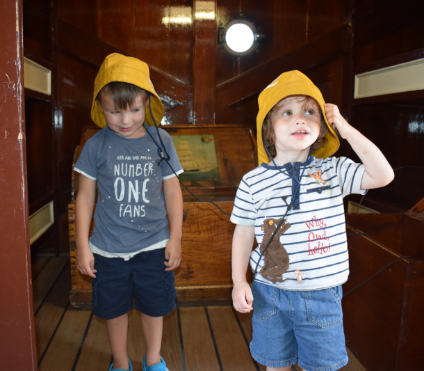 Fun and games onboard the Curry Sark