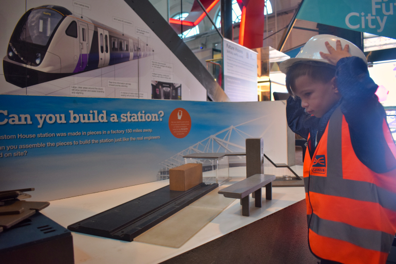 Interactive displays at the transport museum in london