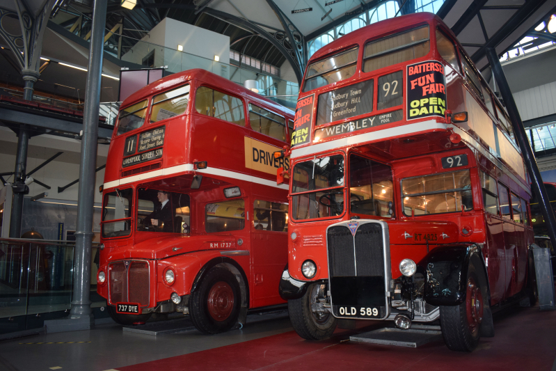 London bus in the London Transport museum