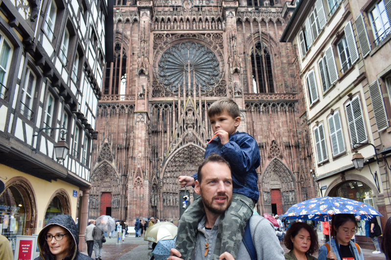 Seeing the Strasbourg Cathedral for the first time