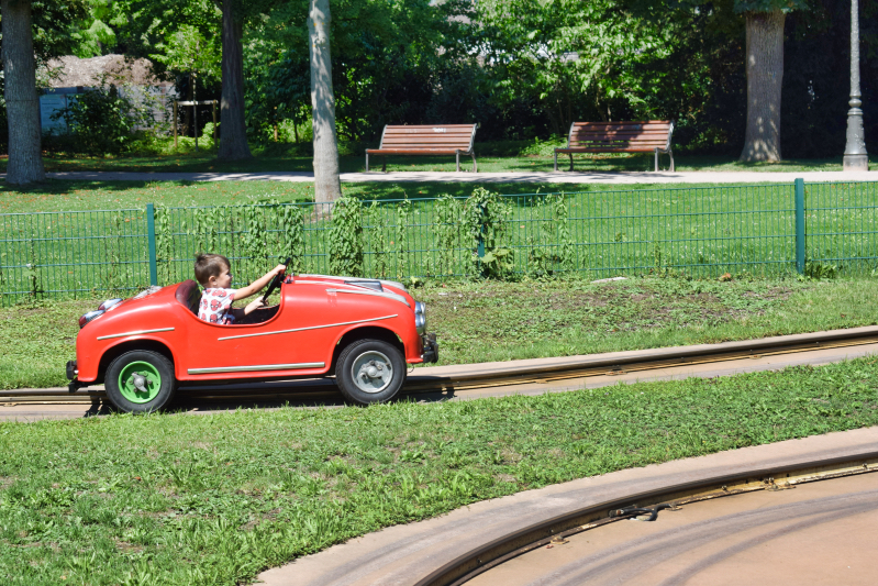 Racing cars in the park